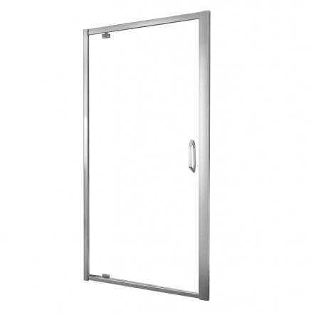 Huppe X1 дверь 90*190см распашная для ниши и боковой стенки, профиль глянцевый хром, стекло прозрачное - 140703.069.321