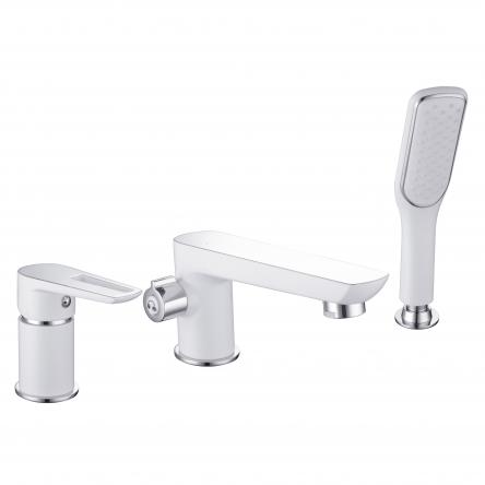 Imprese BRECLAV смеситель для ванны, врезной, на три отверстия,  хром/белый - 85245W