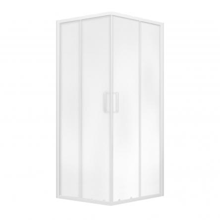 """Eger VI`Z квадратная душевая кабина 80~90*185 см, регулируемый белый профиль, стекло """"Zuzmara"""" (стекла+двери) : 599-005/1"""