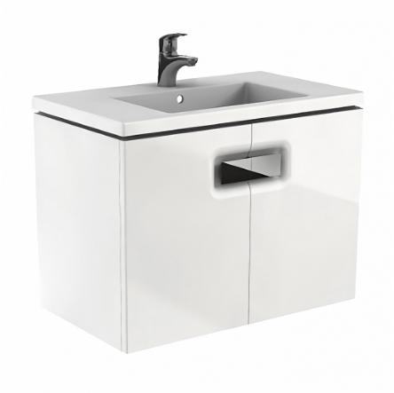 Kolo TWINS шкафчик под умывальник 80см, с дверцей, белый глянец (пол.) - 89547000