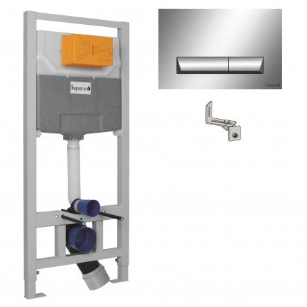 Imprese IMPRESE комплект инсталляции для унитаза 3в1 (инсталляция, крепления, клавиша хром PAN) - i8120