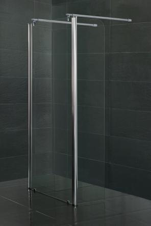 VOLLE Стенка c подвижным профилем 350*1900 мм, каленое прозрачное стекло 8мм - 18-09-35