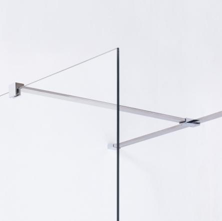 VOLLE Держатель стекла (F) с креплениями, 800мм - 18-05F-80