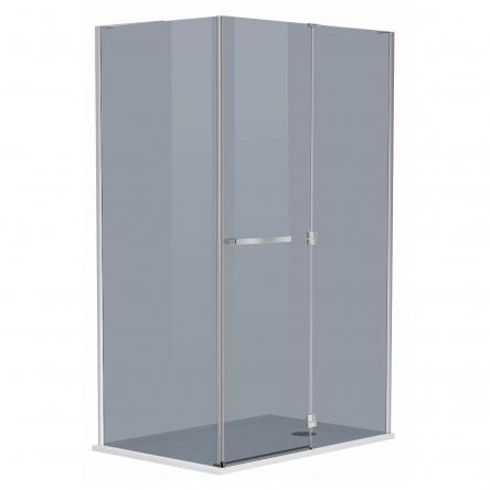 MEGERKA Душевая кабина прямоугольная 120*80*190см (стекла+двери), распашная дверь, стекло тонированное 6мм, правая : 599-330/1R