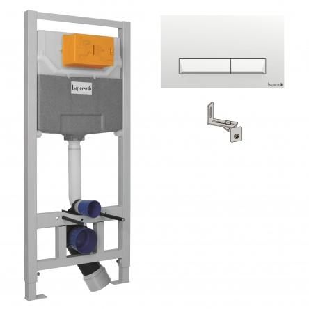 Imprese IMPRESE комплект инсталляции для унитаза 3в1 (инсталляция, крепления, клавиша белая PAN) - i8109