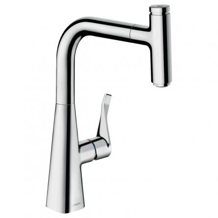 Hansgrohe Metris Select Смеситель для кухни 240, однорычажный, с выдвижным изливом - 14857000