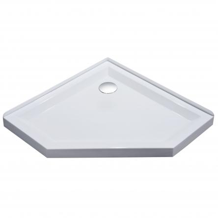 EGER STEFANI поддон 100*100*4см пятиугольный, акриловый, с сифоном - 599-535-100/2