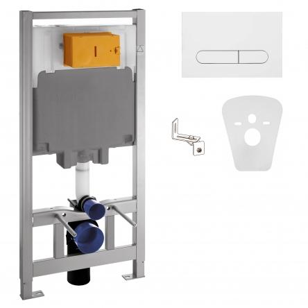 VOLLE MASTER комплект инсталляциидляунитаза4в1(инсталляция, крепления, прокладка, клавишабелая)