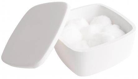 VOLLE Коробочка косметическая с крышечкой 120*120*55мм каменная Solid surface - 18-40-210