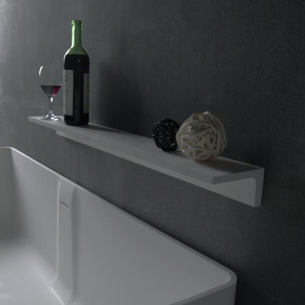 VOLLE Полочка 30*12*6,5см каменная Solid surface - 18-40-113