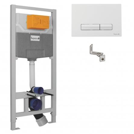 Imprese IMPRESE комплект инсталляции для унитаза 3в1 (инсталляция, крепления, клавиша белая PANI) - i9109