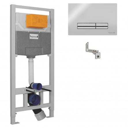 Imprese IMPRESE комплект инсталляции для унитаза 3в1 (инсталляция, крепления, клавиша хром PANI) - i9120