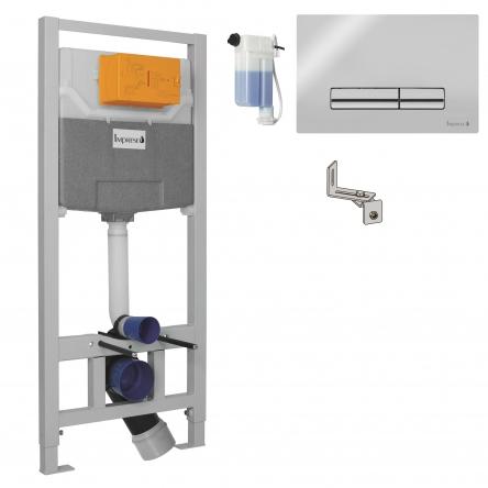 Imprese IMPRESE комплект инсталляции для унитаза 3в1, система OLIpure (инсталляция, крепления, клавиша хром PANI) - i9120OLIpure
