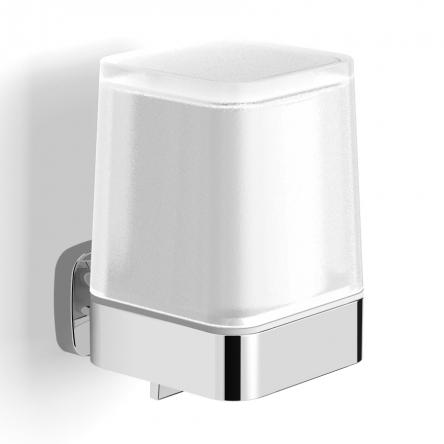 VOLLE TEO диспенсер с нижним нажимом, матовое стекло, крепление к стене, хром - 15-88-422