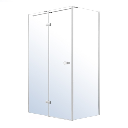 VOLLE LIBRA душевая кабина 120*80*200см (стекла + двери), реверсивная, распашная, хром, стекло прозрачное 8мм - 10-22-908glass