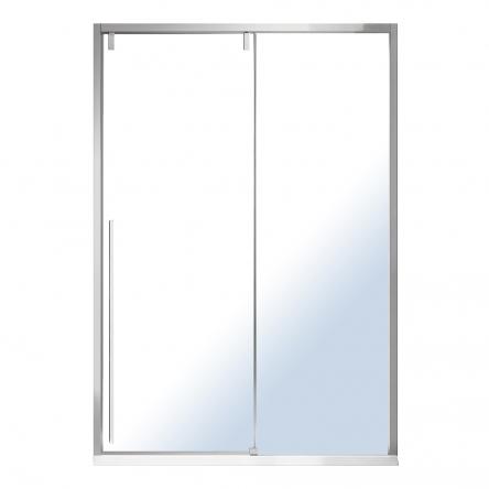 VOLLE AIVA дверь в нишу 120*195см, раздвижная, прозрачное стекло 8мм, хром - 10-22-686